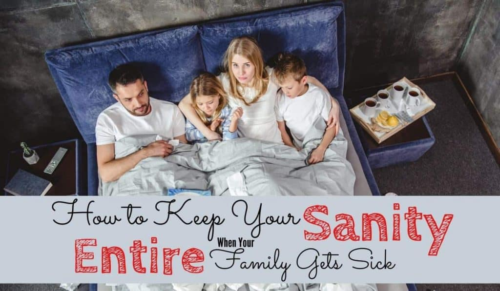 Entire family sick in bed