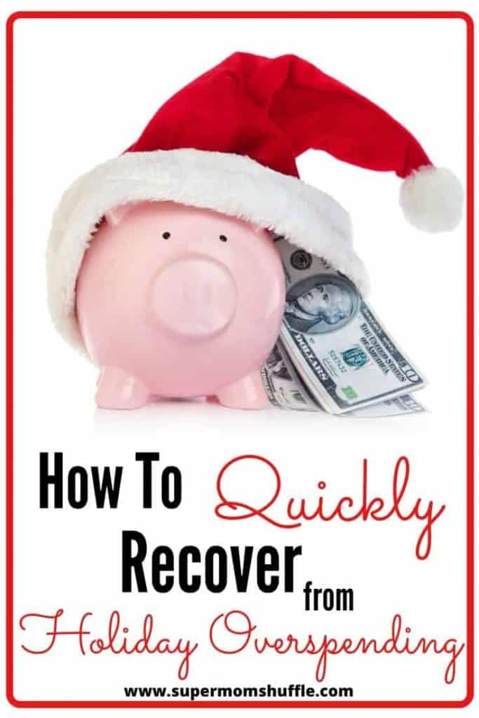 Piggy bank with santa hat on with cash money coming out of hat