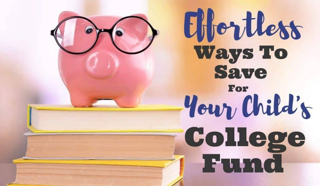 Piggy bank with glasses on books for education