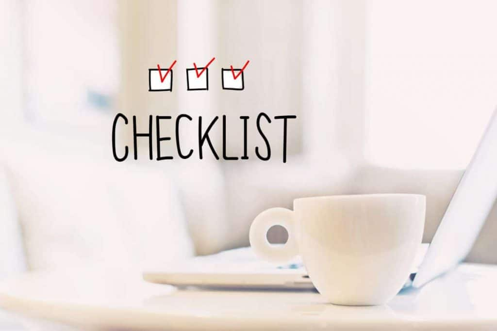 checklist for daily self-care care routine