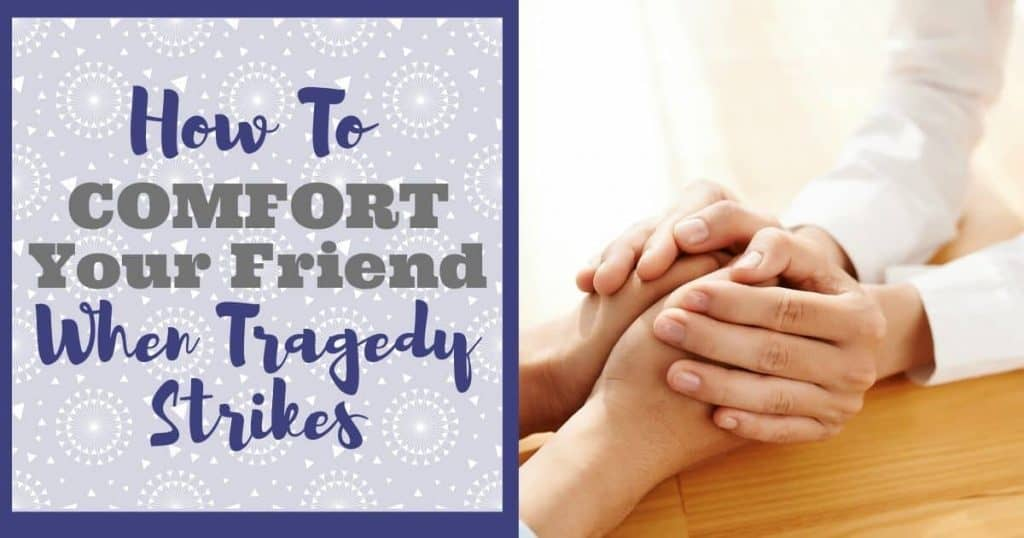 friend holding another friends hands in comfort after a tragedy
